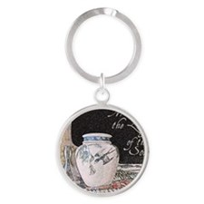 Meditation is the Language of the S Round Keychain
