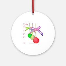 Cale Poppin Round Ornament