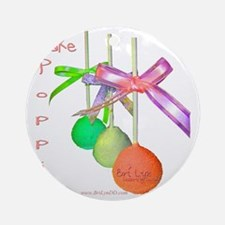 Cake Poppin Round Ornament
