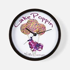 Cake Poppin Wall Clock