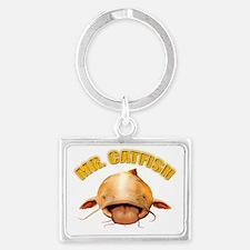 Mr. Catfish Landscape Keychain