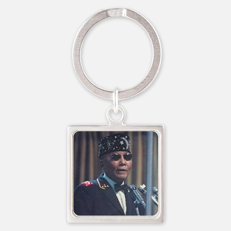 The Most Hon. Elijah Muhammad Square Keychain