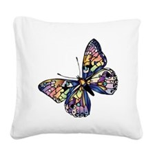 Exotic Butterfly Square Canvas Pillow
