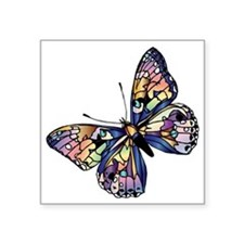 "Exotic Butterfly Square Sticker 3"" x 3"""