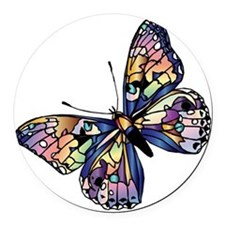 Exotic Butterfly Round Car Magnet