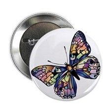 """Exotic Butterfly 2.25"""" Button"""