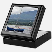 Anchored sailboat Keepsake Box