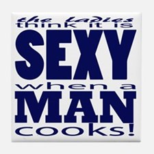 Sexy Man Blue Tile Coaster