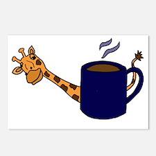 Giraffe Peaking Behind Co Postcards (Package of 8)
