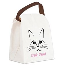 Check Meowt! Canvas Lunch Bag