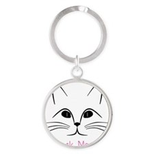 Check Meowt! Round Keychain