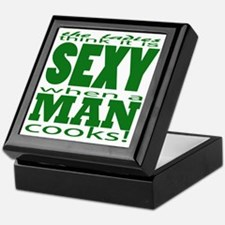 Sexy Man Green Keepsake Box
