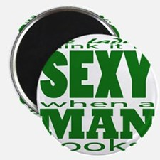 Sexy Man Green Magnet
