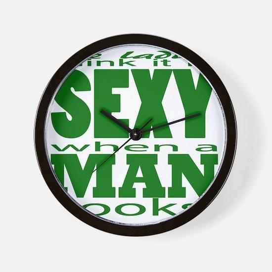 Sexy Man Green Wall Clock