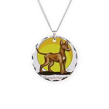 Pharaoh Hound Illustration Necklace