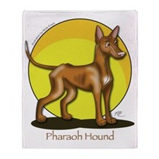 Pharaoh Hound Illustration Throw Blanket