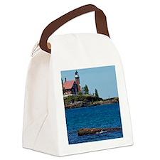 Eagle Harbor Lighthouse Canvas Lunch Bag
