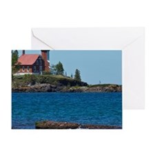 Eagle Harbor Lighthouse Greeting Card