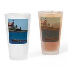 Eagle Harbor Lighthouse Drinking Glass