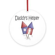 July 4th Daddys Helper Round Ornament