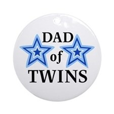 Dad of Twins (Boys) Ornament (Round)