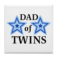 Dad of Twins (Boys) Tile Coaster