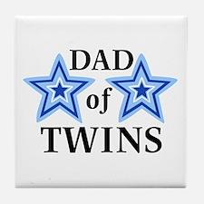 Dad of Twins (Boys) Tile Coaster
