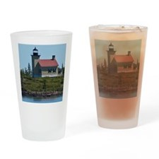 Copper Harbor Lighthouse Drinking Glass
