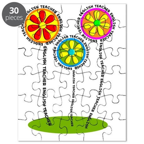English Teacher Flowers Puzzle