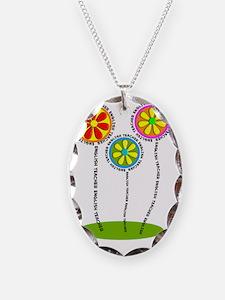 English Teacher Flowers Necklace