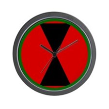 7th Infantry Division Wall Clock