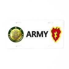 25th ID Aluminum License Plate