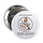 Ballot Voting Sarcastic Buttons (10 pk)