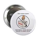 Ballot Voting Sarcastic Button