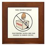 Ballot Voting Sarcastic Tile (Framed)