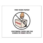 Ballot Voting Sarcastic Poster (Small)