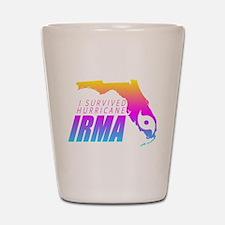 I Survived Hurricane Irma Shot Glass