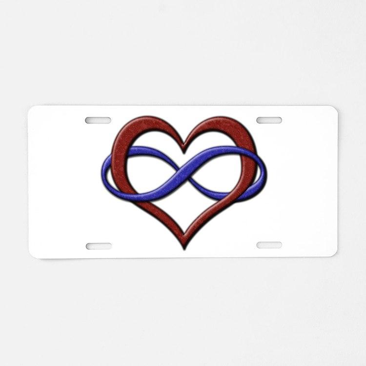 Polyamory Pride Designs Aluminum License Plate