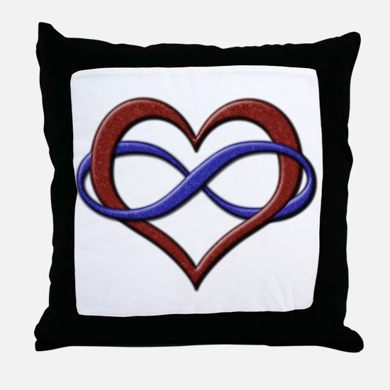 Polyamory Pride Designs Throw Pillow