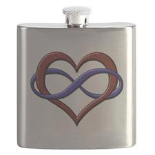Polyamory Pride Designs Flask