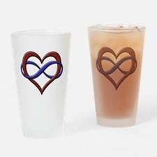 Polyamory Pride Designs Drinking Glass