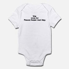 Will work for Peanut Butter A Infant Bodysuit