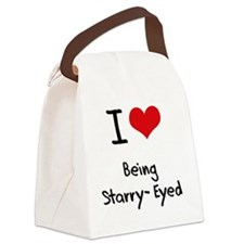 I love Being Starry-Eyed Canvas Lunch Bag