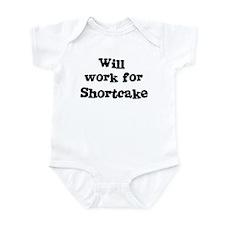 Will work for Shortcake Infant Bodysuit