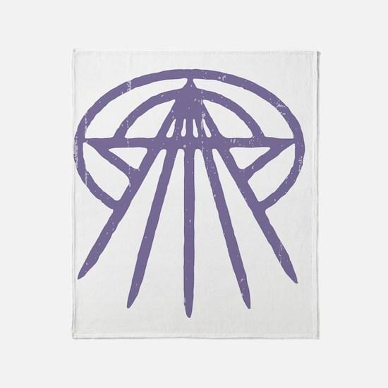 cthulhu-star3-purp-T Throw Blanket