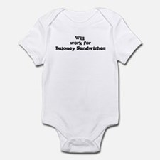 Will work for Baloney Sandwic Infant Bodysuit