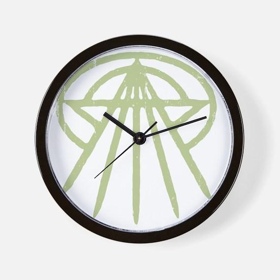 cthulhu-star3-grn-T Wall Clock