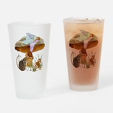 fairy mushroom Drinking Glass