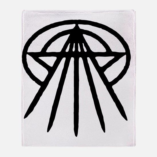 cthulhu-star3-blk-T Throw Blanket