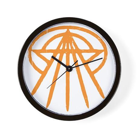 cthulhu-star3-orng-T Wall Clock